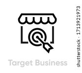target business icon. editable... | Shutterstock .eps vector #1713921973