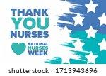 national nurses week. thank you ... | Shutterstock .eps vector #1713943696