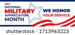 national military appreciation... | Shutterstock .eps vector #1713963223