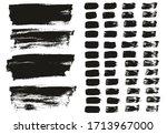 flat paint brush thin lines  ... | Shutterstock .eps vector #1713967000