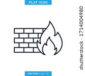firewall icon vector design...