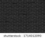 Black Brick Wall Pattern...