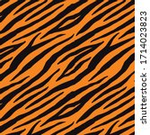 tiger pattern background design ...   Shutterstock .eps vector #1714023823