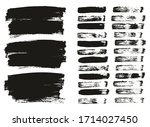 flat paint brush thin lines  ... | Shutterstock .eps vector #1714027450