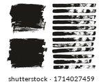 flat paint brush thin lines  ...   Shutterstock .eps vector #1714027459