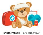 cpr first aid concept for... | Shutterstock .eps vector #1714066960