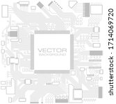 electronic computer hardware...   Shutterstock .eps vector #1714069720