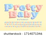 pretty baby  a plump and... | Shutterstock .eps vector #1714071346