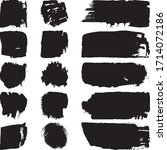 set of abstract ink spots on a... | Shutterstock .eps vector #1714072186