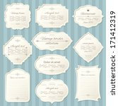 vintage frame set on striped... | Shutterstock .eps vector #171412319