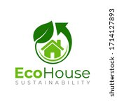eco house logo template  green...   Shutterstock .eps vector #1714127893