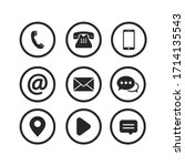contact button icon symbol... | Shutterstock .eps vector #1714135543