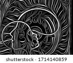 viral particle series. abstract ... | Shutterstock . vector #1714140859