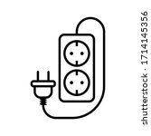 electric socket with a plug.... | Shutterstock .eps vector #1714145356