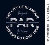 the city of glamour paris par ... | Shutterstock .eps vector #1714155676