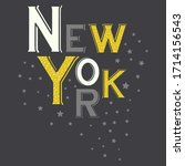 new york star abstract graphic... | Shutterstock .eps vector #1714156543