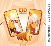 vector illustration of muslim...   Shutterstock .eps vector #1714190296
