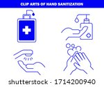 hand wash and washing hands to... | Shutterstock .eps vector #1714200940