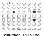 laundry symbols icon set.... | Shutterstock .eps vector #1714221556