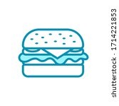 hamburger   fast food icon...