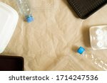 background of craft paper with... | Shutterstock . vector #1714247536