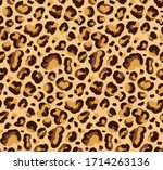 funny leopard pattern drawing... | Shutterstock .eps vector #1714263136