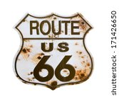 Old Rusted Route 66 Sign...