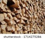 firewood oak background...   Shutterstock . vector #1714275286
