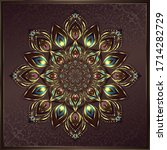 vintage background mandala card ... | Shutterstock .eps vector #1714282729