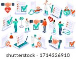medicine insurance security... | Shutterstock .eps vector #1714326910