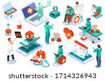 clinic of medical health  woman ... | Shutterstock .eps vector #1714326943