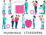 clinic of medical health  woman ... | Shutterstock .eps vector #1714326946