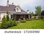 a new house with a garden in a... | Shutterstock . vector #171433580