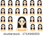 young asian girl woman with... | Shutterstock .eps vector #1714340353
