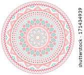 decorative pink and blue round... | Shutterstock .eps vector #171434939