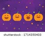 halloween spooky pumpkin...   Shutterstock .eps vector #1714350403