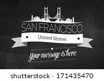 san francisco city greeting...   Shutterstock .eps vector #171435470