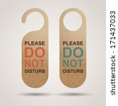 do not disturb | Shutterstock .eps vector #171437033