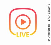 live colorful button. live icon ...