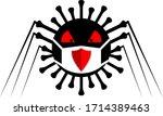 scary monster virus in... | Shutterstock .eps vector #1714389463