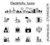 electricity icons set vector... | Shutterstock .eps vector #1714401679