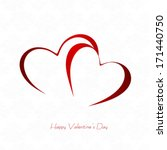 happy valentines day and... | Shutterstock .eps vector #171440750