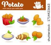 potato vector cartoon asset for ... | Shutterstock .eps vector #1714423663