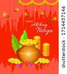 happy akshay tritiya festival... | Shutterstock .eps vector #1714457146