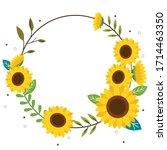 The Sunflower Wreath On The...