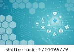 health care icon pattern... | Shutterstock . vector #1714496779