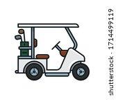 Golf Cart Isolated Vector...