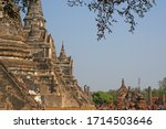 sculpture of three 3 ancient... | Shutterstock . vector #1714503646