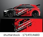 rally car decal graphic wrap...   Shutterstock .eps vector #1714514683