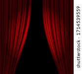 Open Theatrical Stage Curtain....
